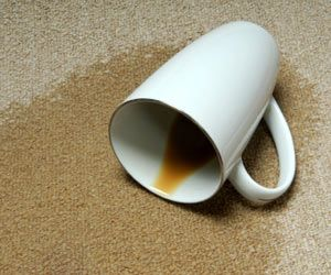 How to remove coffee stains from carpet?