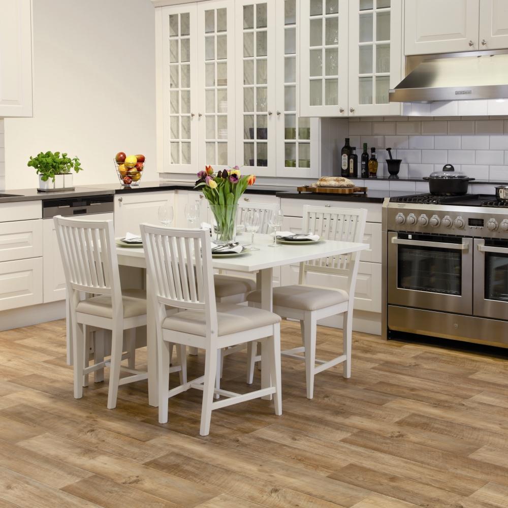 wood effect vinyl open plan dining room